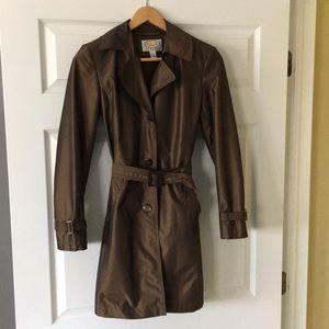 Brown Petite rain coat